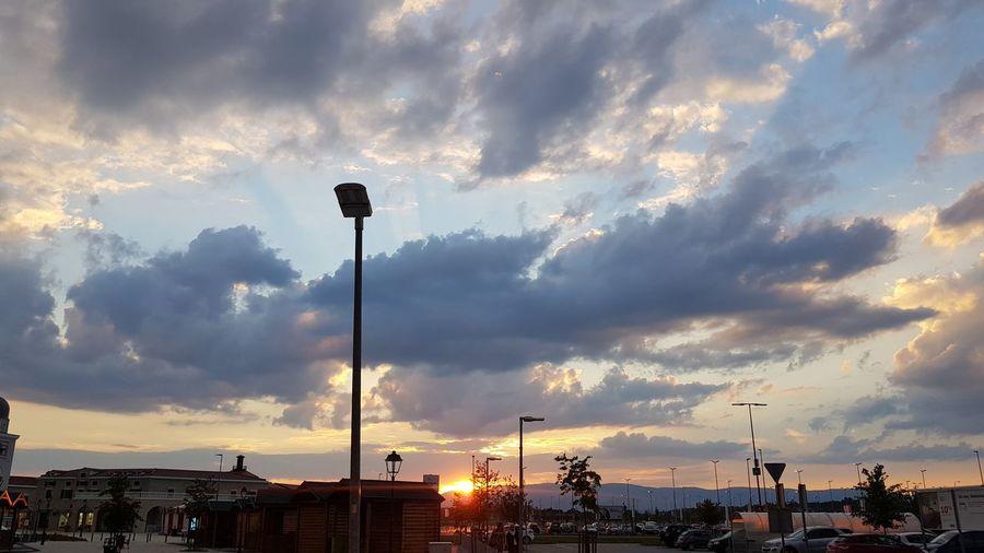 City Golf Club Sunset Sport Soccer Field Basketball - Sport Urban Skyline Silhouette Sky Cloud - Sky