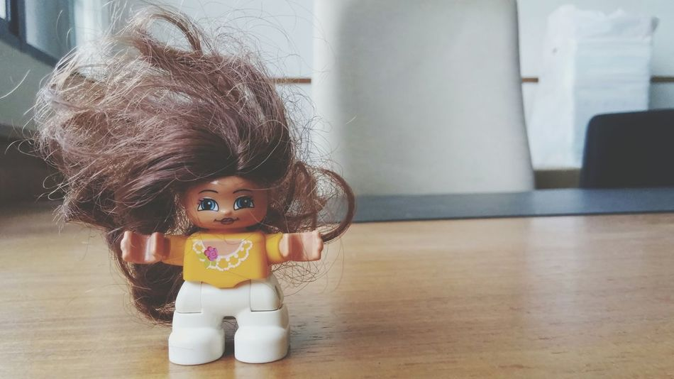 If I were a Doll, this would be big hair me! Happy week ahead! LEGO Duplo