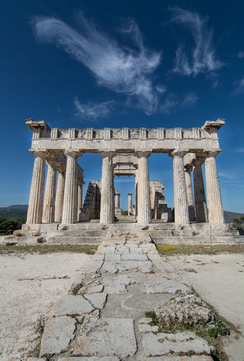Greek temple of aphaea on aegina island