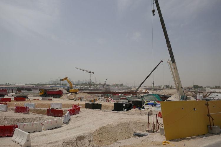 Construction Construction Machinery Doha The Pearl Qatar Artificial Island Crane New Building  Qatar