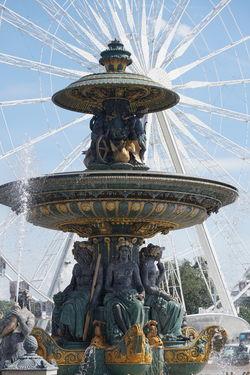 Fountain at Place de la Concorde #bigcity #ferriswheel #fountain #France #placedelaconcord #sunnyday #water Art Blue Day Famous Place Outdoors Paris Sculpture Sky Tourism Travel Destinations