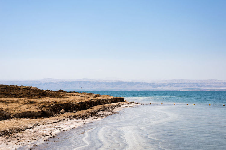 When I went to Dead sea, I found this beautiful view! Dead Sea  Dead Sea Beach Dead Sea Jordan Sky Blue Coast Coastline Landscape Salt Water Beach Jordan Middle East Blue Sky Sea