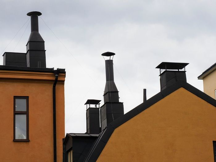 House Wall Cityscape Wall - Building Feature Architecture Architectural Detail Stockholm Sweden Outdoors Outdoor Photography Daylight Streetphotography Travel Photography Sunlight Façade Roof Skyline Orange Color Arts Culture And Entertainment History Politics And Government Classical Style Tiled Roof  Rooftop The Architect - 2018 EyeEm Awards Urban Scene Tiled Roof  Housing Settlement Urban Skyline Roof Tile