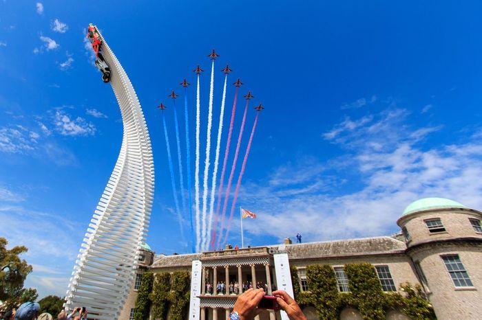 Red arrows at Goodwood Festival of Speed Landscape Blue Sky Fos Redarrows Airdisplay Summer