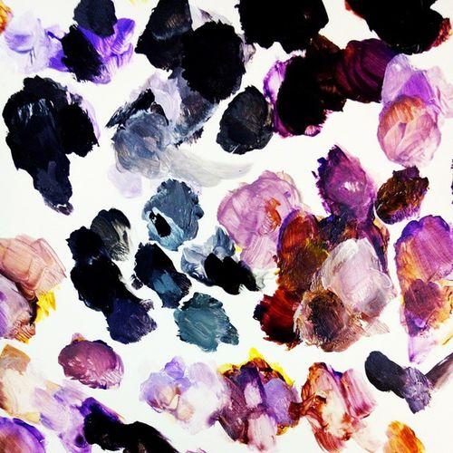收工吃飯 Arcrylic Painting Pallete Color art