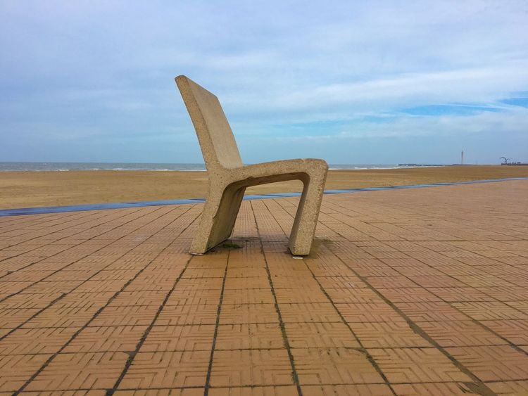 Have a seat Sky Horizon Over Water Sea Tranquility Nature No People Tranquil Scene Outdoors Day Cloud - Sky Beach Scenics Beauty In Nature Sand Chair In Nowhere Belgium Ostend