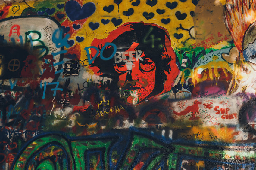 More: PART I: https://barbara-duchalska.blogspo PART II: https://barbara-duchalska.blogspo John Lennon's Wall Prague Abstract Architecture Art And Craft Backgrounds Built Structure Creativity Full Frame Graffiti Human Representation Indoors  John Lennon Multi Colored Mural No People Paint Pattern Representation Street Art Text Wall - Building Feature