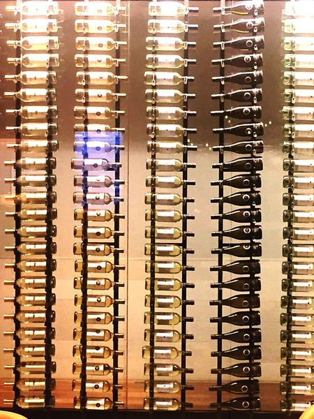 Bottles Shelf Wine Bottles Display Show Off Show Room Alcohol Mondaine shiny Glass Collection Group Of Objects Fragile