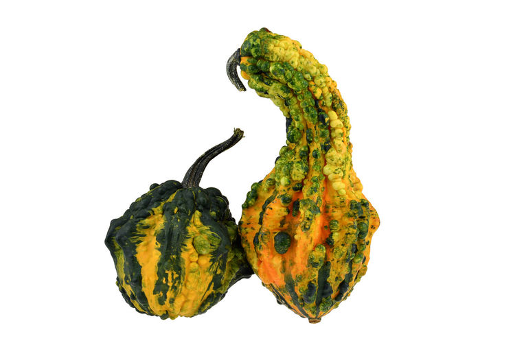 Close-up of fruit against white background