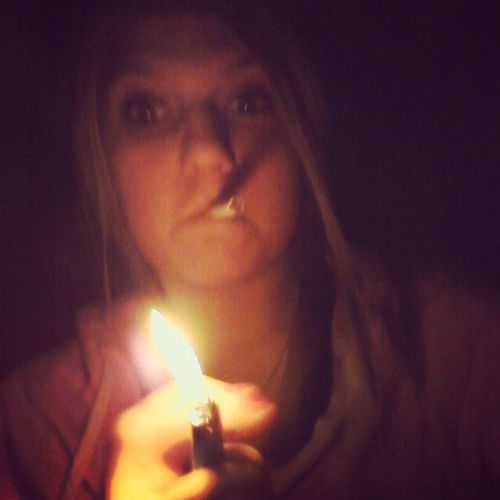 playing with fire :) Smokingabutt