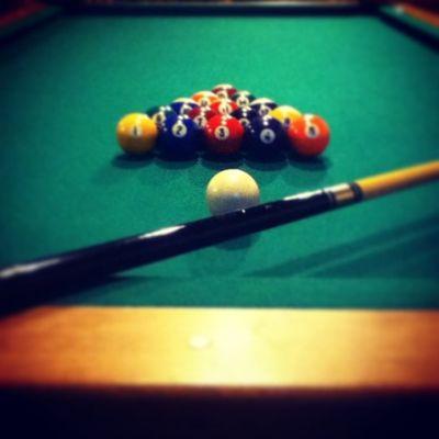 Playing pool with @cheyenneupleger !? Wecool Playingpool Neat IWon