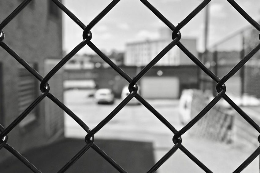 Chain Link Chainlink Fence Protection Safety Security Metal Focus On Foreground Full Frame No People Close-up Day Pattern Outdoors Sky Backgrounds City