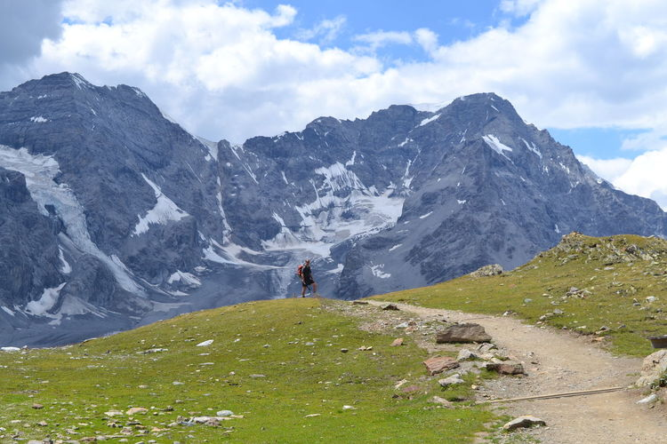 Ortler Sulden Südtirol Activity Adventure Beauty In Nature Cloud - Sky Day Idyllic Leisure Activity Lifestyles Mountain Mountain Range Nature Non-urban Scene Outdoors People Rear View Scenics - Nature Sky Tranquil Scene Tranquility Vinschgau