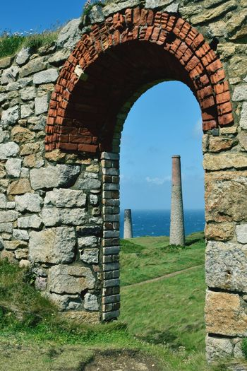 Cornish mining Architecture History Industrial Landscapes Industrial History, Built Structure No People Outdoors Cornwall Coastline Poldark Vintage