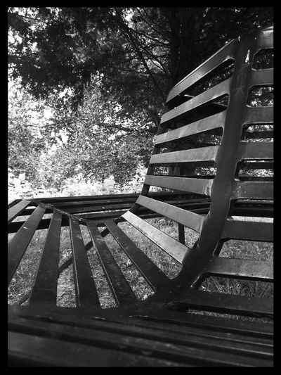 Surface Level Close-up Seating Structure Metal Selective Focus Focus On Foreground Bnw_collection Bnw The Moot Home Is Where The Art Is Monochrome Photography No People