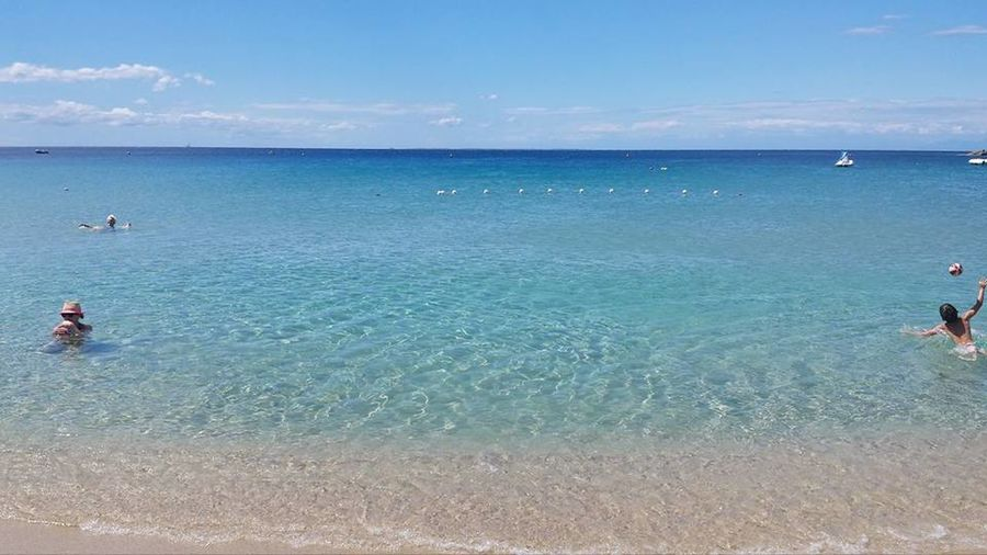 Beauty In Nature Blue Color Palette Day Enjoyment Fun Horizon Over Water Leisure Activity Lifestyles Nature Outdoors Scenics Sea Seascape Shore Sky Summer Tourism Tourist Tranquil Scene Tranquility Vacations Water Colour Of Life Color Palette