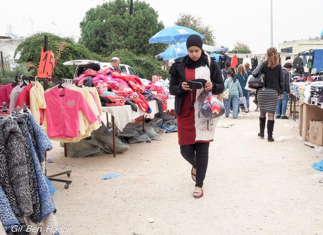 An Arab girl in Ramla Wednesday market. Arab Arab Girl Day Girl Market Only Women Outdoors People