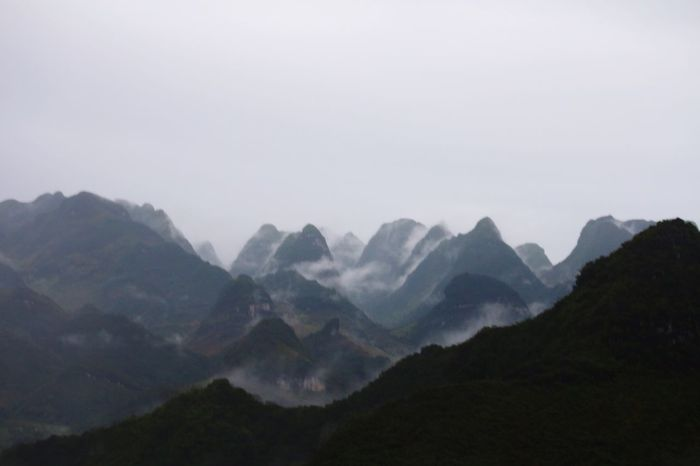 Mountain Landscape Scenics Nature Tranquility Mountain Range Fog No People Beauty In Nature Outdoors Possibilities  Day