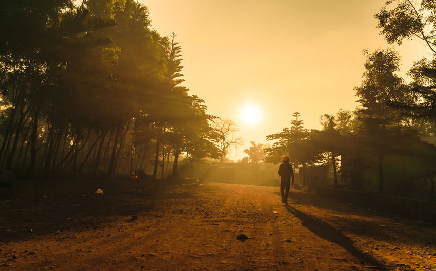 #sunset #sun #clouds #skylovers #sky #nature #beautifulinnature #naturalbeauty #photography #landscape #sun Tree Plant Sky Sunset Real People Nature One Person Full Length Lifestyles Walking Men Sun Beauty In Nature Leisure Activity Orange Color Growth Sunlight Tranquility Land Outdoors Lens Flare Capture Tomorrow 2018 In One Photograph