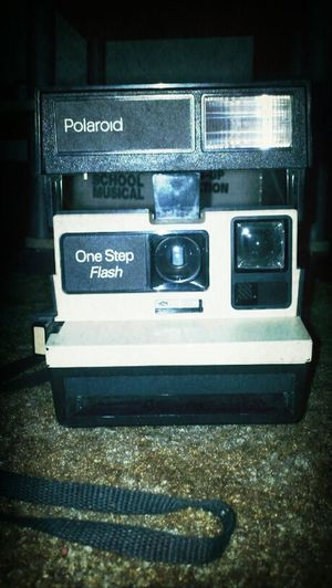 This vintage polaroid camera! >