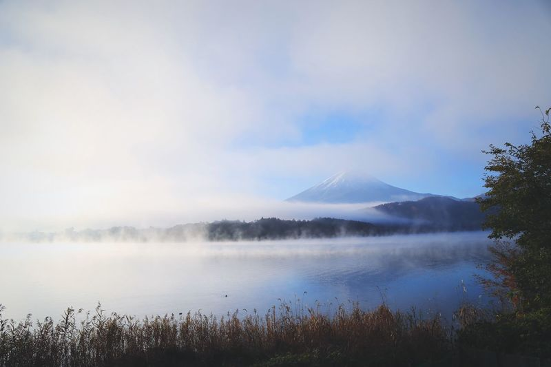 Mt Fuji Mt Fuji View Mt Fuji, Japan Japan Fuji Mountain Sky Beauty In Nature Water Scenics - Nature Tranquil Scene Nature Lake Cloud - Sky