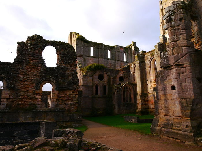 Abandoned Ancient Ancient Civilization Arch Architecture Bad Condition Building Exterior Built Structure Damaged Day December December 2016 Fountains Abbey Fountains Abbey Yorkshire Fountains Abbey, Yorkshire History No People Old Ruin Outdoors Sky The Past