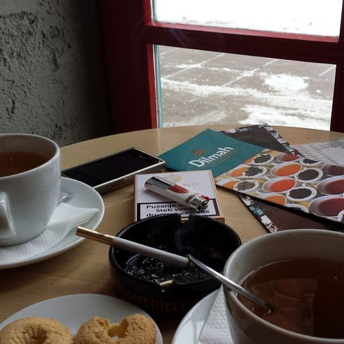Hot and cold :3 Tea Time Sobranie Relaxing Enjoying Life