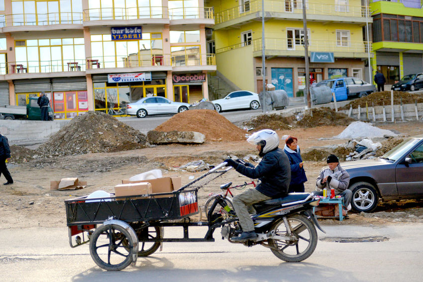 delivery vehicle in pogradeci albania,dec, 9 ,2017 Albania Delivery Service Motorcycle Pogradec Road Tirana Camioneta Cart Delivery Truck Editorial  Kamionki Old Pogradeci Vehicle Vintage
