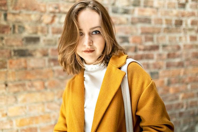 Portrait of a teenage girl in winter