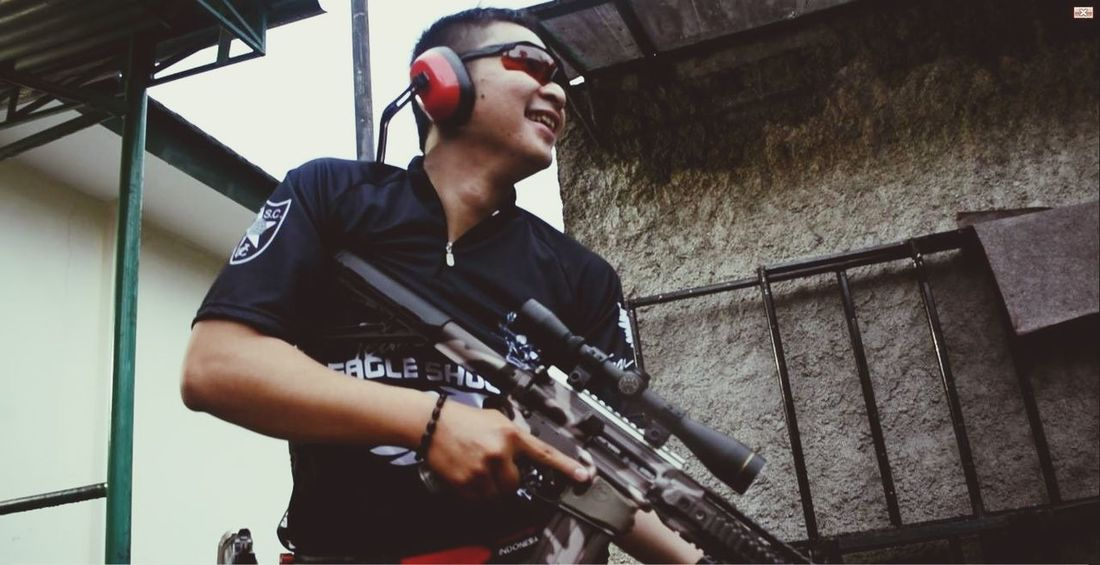 Take a breath after shoot ... Hk416 Rifle Eagle Shooting Club Indonesia That's Me