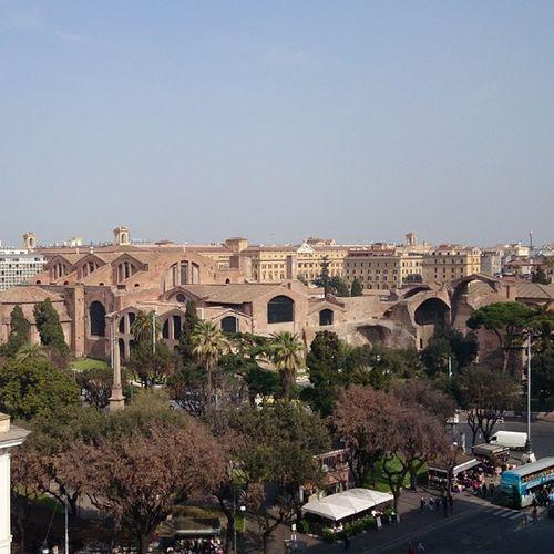 Vista di roma dalla terrazza dell albergo
