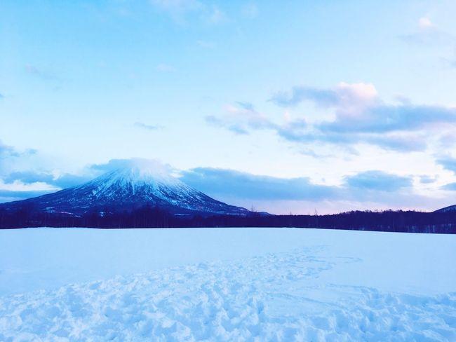 Yotei Mountain Fuji Mt Yotei Mt Fuji Ezo Hokkaido Japan Sunset Pink Sky Weather Fantasy Blue Tranquility Winter Japan Cold Temperature
