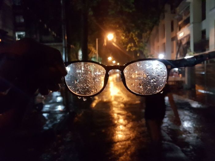 Sunglasses Protection Night Water Outdoors No People City Illuminated Reflection Paint The Town Yellow Be. Ready. The Photojournalist - 2018 EyeEm Awards
