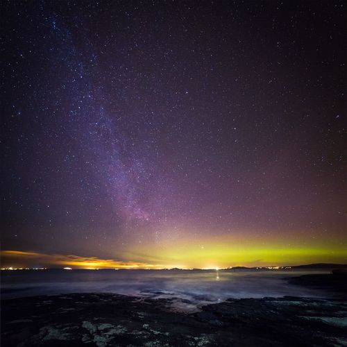 Different shapes of light - Star - Space Beauty In Nature Night Astronomy Nature Milky Way No People Outdoors Tranquil Scene Landscape Star Field Galaxy Space Space And Astronomy Constellation Winter Norway Galaxy Long Exposure Astrophotography Scandinavia Northern Lights Aurora Borealis Randaberg