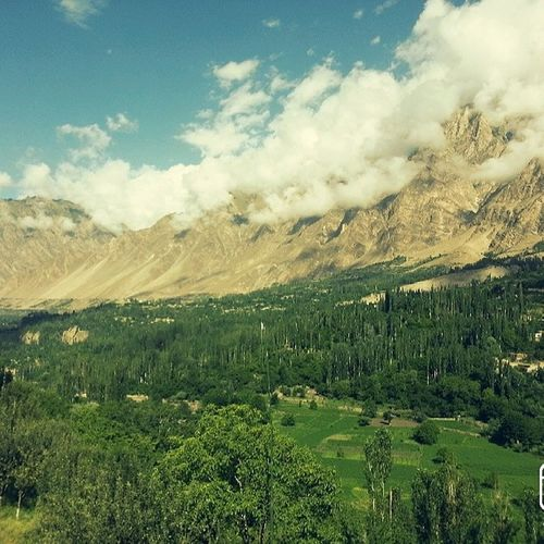 View from my hotel room in Hunza. Karimabad Thosemountains