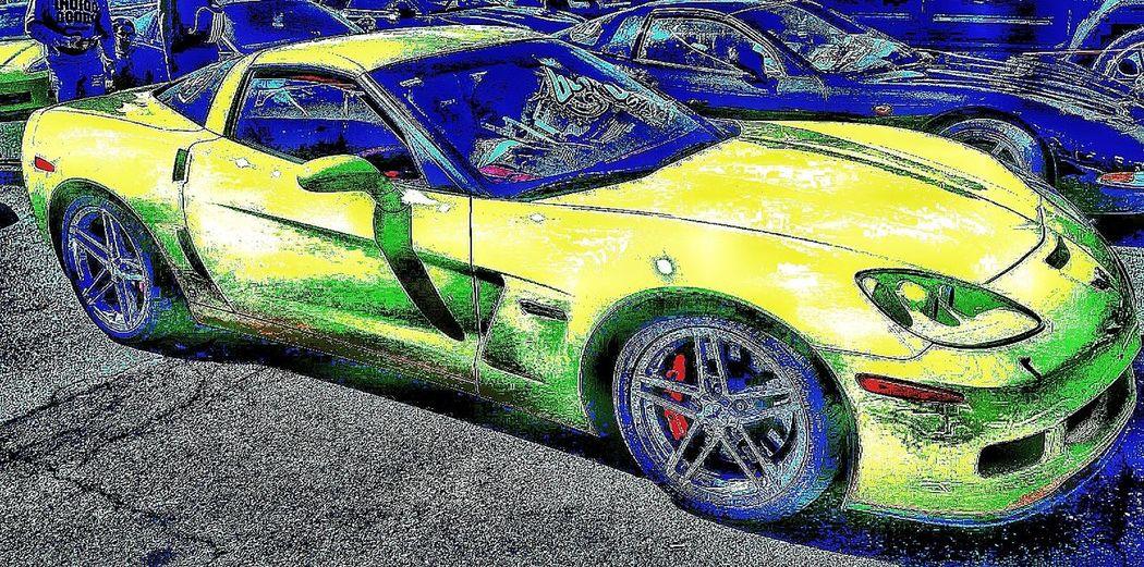 Corvette Corvette Cheste Circuito Ricardo Tormo Euro Nascar Multi Colored Full Frame Backgrounds Water Pattern Close-up