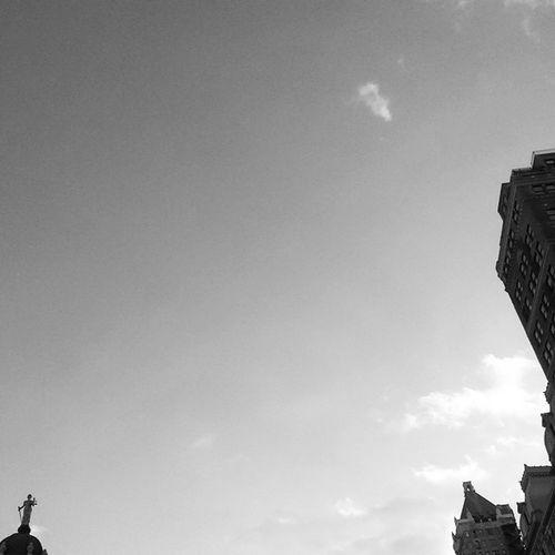 Brooklyn Borough Hall neighborhood Skyline Architecture Exterior buildings silhouette statue sky NYC blackandwhite