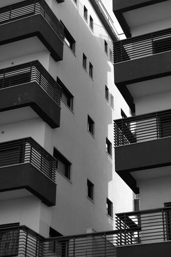 Architecture Built Structure Building Exterior Building Low Angle View Residential District No People City Window Day Outdoors Nature Balcony Railing Sky Sunlight Apartment Repetition