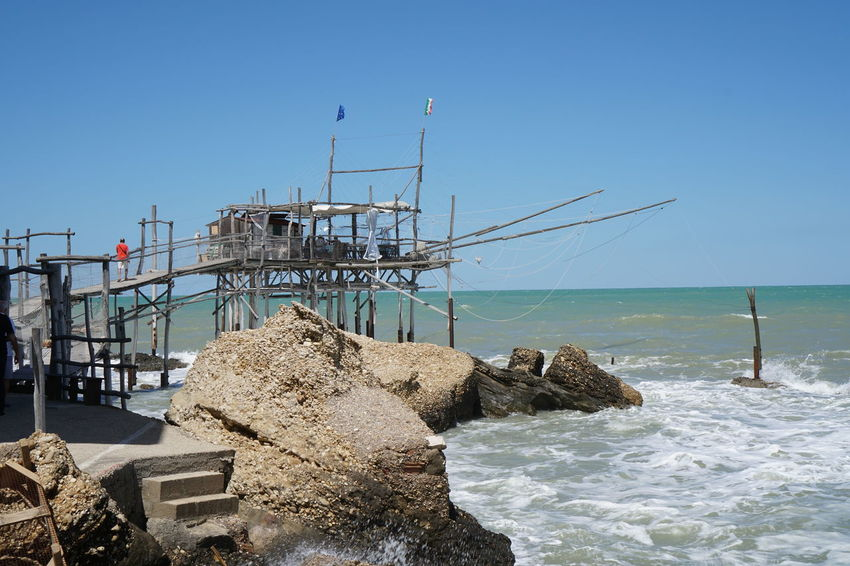 Day Nature No People Outdoors Punta Tufano Rocca San Giovanni Sea Sky Trabocco