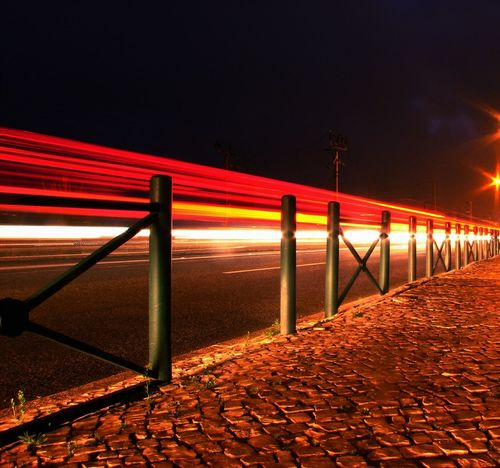 Night Red Outdoors No People Illuminated Bridge - Man Made Structure Travel Destinations Lights Light Long Exposure Train Lights Dramatic View Dramatic Light Movement Photography