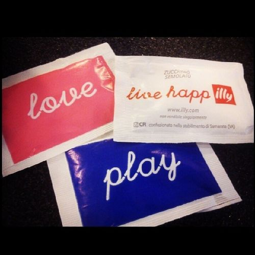 Love,play,live happily :) Illy Coffee Sugarforlife