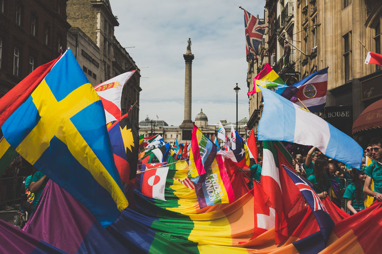 LGBT Pride Parade in London, UK. 2017 LGBT Parade LGBTQ Rights London Press For Progress Protest Sunny Architecture City Day Equality Flag Flags Gay Journalism Lgbt Lgbt Pride March Multi Colored People Pride Pride2017 Prideparade Protesters Rainbow Unity Stories From The City Love Is Love