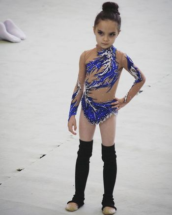 Athlete Ballet Beauty BlackSwan Blue Child Day Dress Full Length Gym Gymnastics Ice Indoors  One Person People Performance Princess Real People Vertical