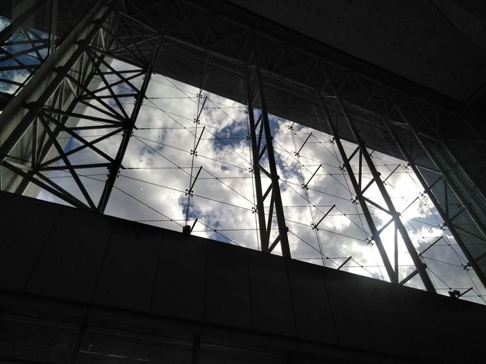 Low angle view of built structure against sky