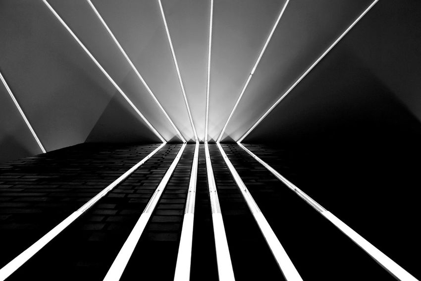Night Lights Berlin Photography Light And Shadow Lightart Light Art Bnw Blackandwhite Black & White Noir Et Blanc Bnw_friday_eyeemchallenge Monochrome No People Night Outdoors