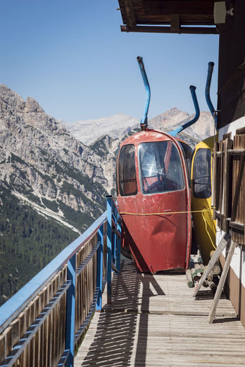 Old Cableway Clear Sky Cold Temperature Mountain Mountain Range Nature No People Outdoors Sky Transportation