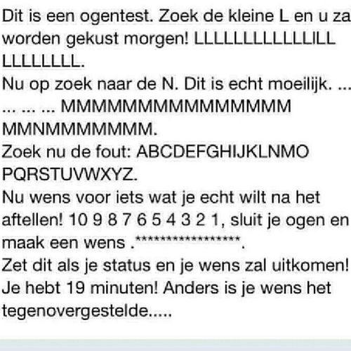Nederlands Ogen Test Wensen nummersletters