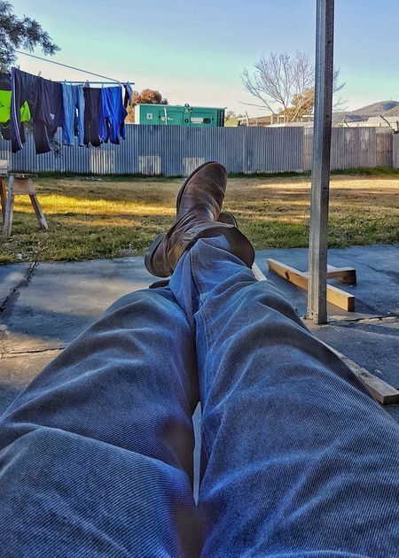 One Person Day Adult People Outdoors Real People Sky Long Day Feet Feet Up Weekend Boots Work Relaxing