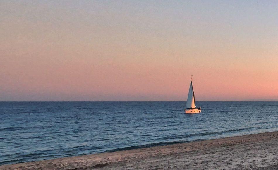 Beach Boat Sea Water Beauty In Nature Nature Tranquility Tranquil Scene Au Bord De L'eau Mer Méditerranée Bord De Mer Côte D'Azur Au Bord De Mer Mer Mediterranée Bateau Voilier Sunset Soleil Couchant Coucher De Soleil