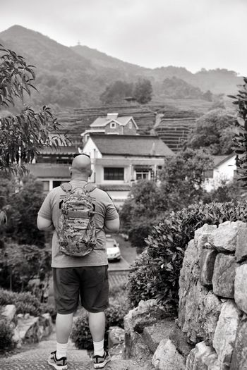 It was a blast to have my brother and mom here with me! Black And White Black And White Photography Black & White Blackandwhite Hangzhou Tea Village Long Jing Village Long Jing Tea China EyeEm EyeEm Selects Enjoying Life Taking Photos D850 Nikon Nikonphotography EyeEm Best Shots Rear View Mountain Architecture Full Length Building